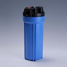 樹脂製フィルターハウジング 10インチ 3/4 青 エア抜き