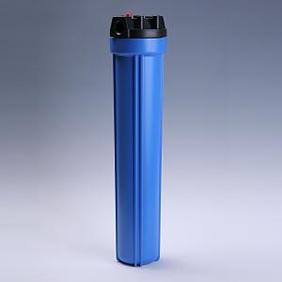 樹脂製フィルターハウジング 20インチ 1/2 青 エア抜き