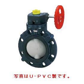 > 樹脂製超純水用バルブ > バタフライバルブ57型 PP製 サイドギヤ式 シート: